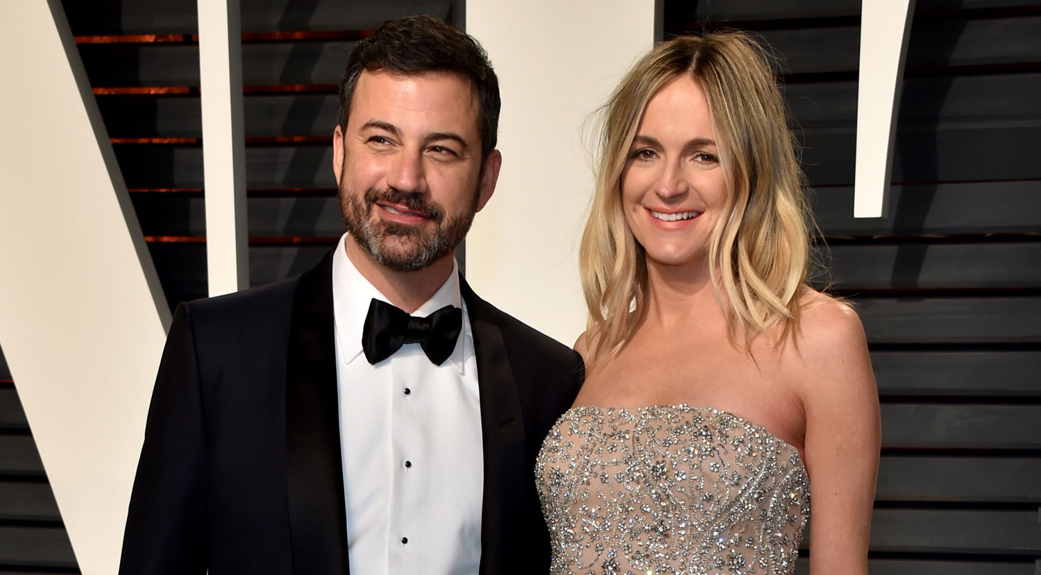 Jimmy Kimmel Holds Pregnant Wife Molly McNearneys Baby