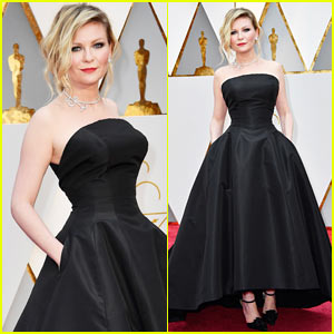 Kirsten Dunst Goes Classic in Black for Oscars 2017 | 2017 Oscars ...