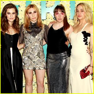 Lena Dunham Wears Dramatic Eye Makeup for 'Girls' Final Season Premiere!