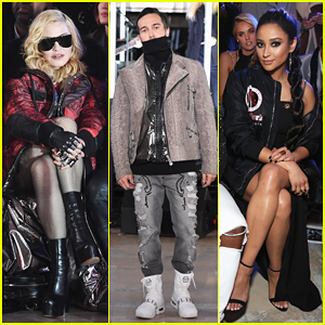 Madonna & Shay Mitchell Watch Pete Wentz Hit The Runway At Philipp Plein's Fashion Show!