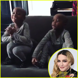 Madonna's Newly-Adopted Twins Sing 'Twinkle Twinkle, Little Star' (Video)