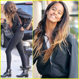 Malia Obama Is All Smiles at Her Internship!