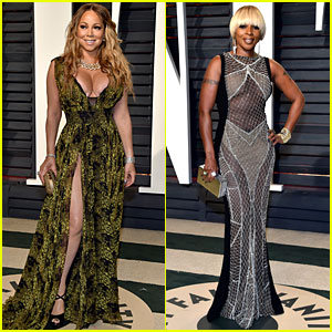 Mariah Carey & Mary J. Blige Step Out for Vanity Fair Oscars Party 2017!