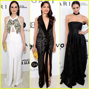 Michelle Dockery, Freida Pinto, & Katharine McPhee Step Out on Oscars Night 2017!