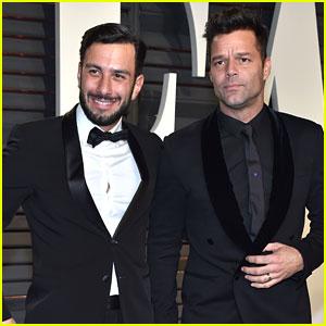 Ricky Martin & Fiance Jwan Yosef Hit Up Vanity Fair's Oscar Party!