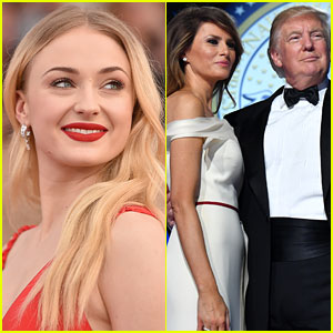 Sophie Turner Took Down Donald & Melania Trump on Twitter in One Tweet