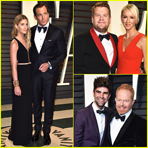 Will Arnett, James Corden & Jesse Tyler Ferguson Couple Up At Vanity Fair's Oscar Party