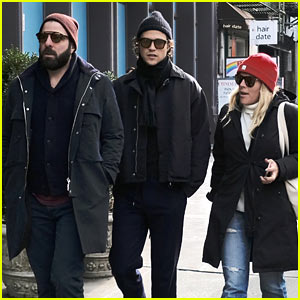 Zachary Quinto & Miles McMillan Join Busy Philipps for a Stroll in NYC