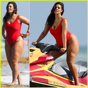 Ashley Graham Gets Cheeky For Baywatch Themed Shoot Ashley Graham Just Jared