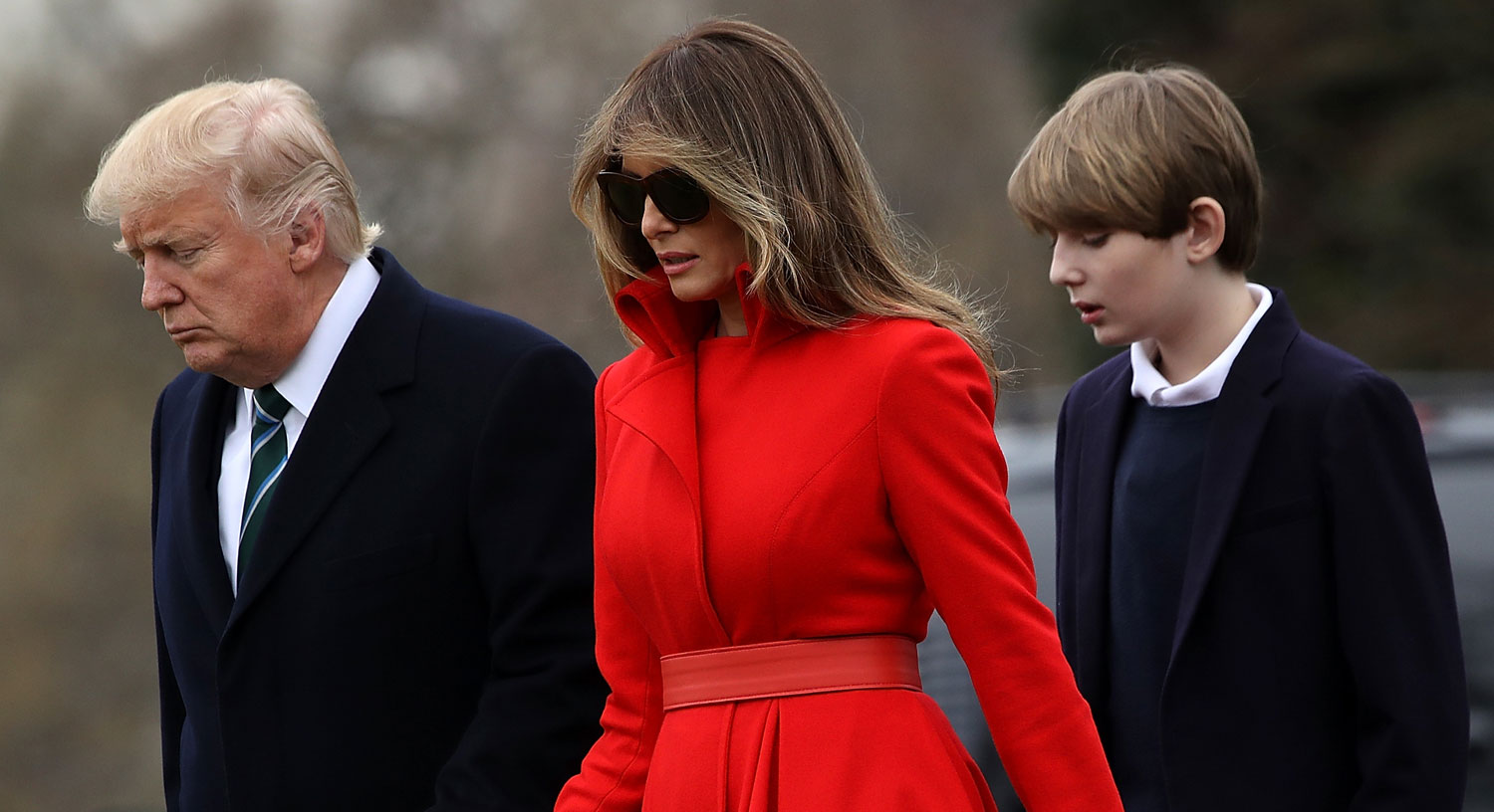Barron Trump Visits His Father at the White House | Barron ...
