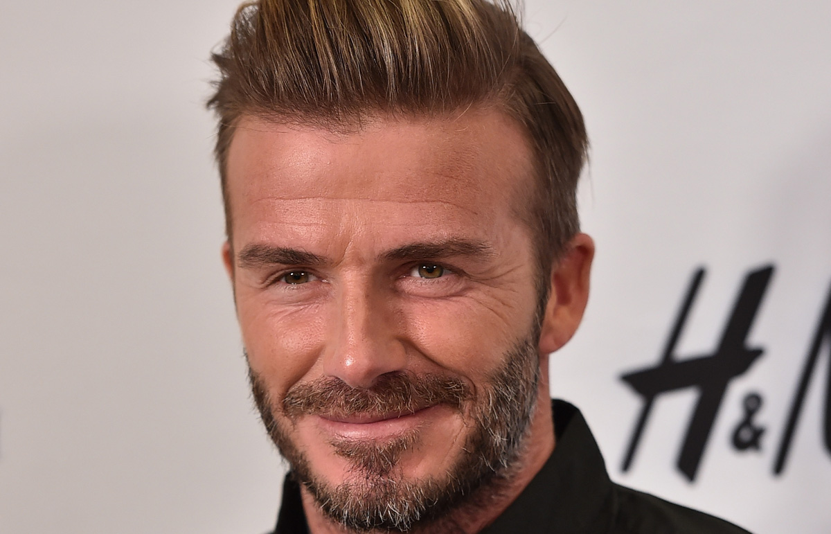 David beckham has a big face scar for king arthur cameo - David beckham ...