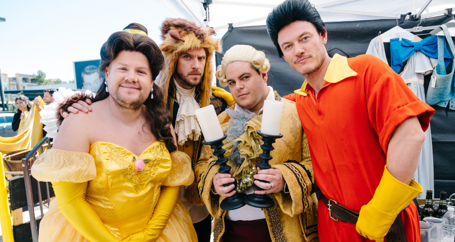 James Corden Dan Stevens Luke Evans Josh Gad Perform Crosswalk Version Of Beauty The Beast WATCH