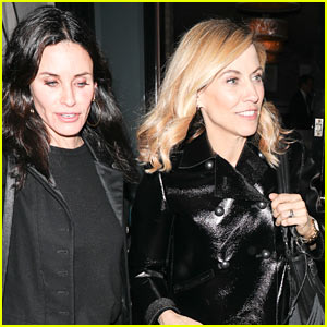 Courteney Cox Grabs Dinner with Sheryl Crow in WeHo