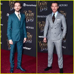 Dan Stevens & Luke Evans Suit Up for the 'Beauty & the Beast' Premiere!