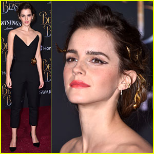 Emma Watson Puts Gold Detail Into Her 'Beauty & The Beast' Premiere Outfit!