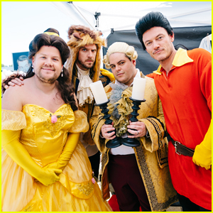 James Corden Dan Stevens Luke Evans Josh Gad Perform Crosswalk Version Of Beauty The Beast