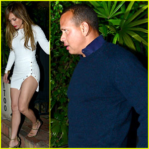 Jennifer Lopez Wears Form-Fitting Dress for Date Night with Alex Rodriguez!