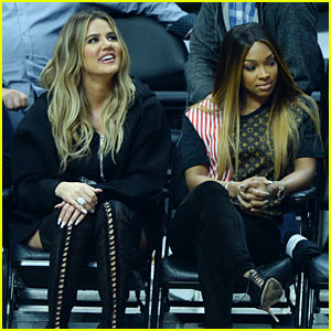 Khloe Kardashian Supports Boyfriend Tristan Thompson at Game Against LA Clippers