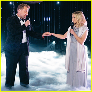 Kristen Bell & James Corden Perform An Aerial Duet Of 'Up Where We Belong' - Watch Here!