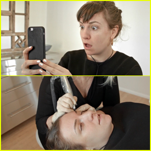 Lena Dunham Transformed Her Brows With Microblading!
