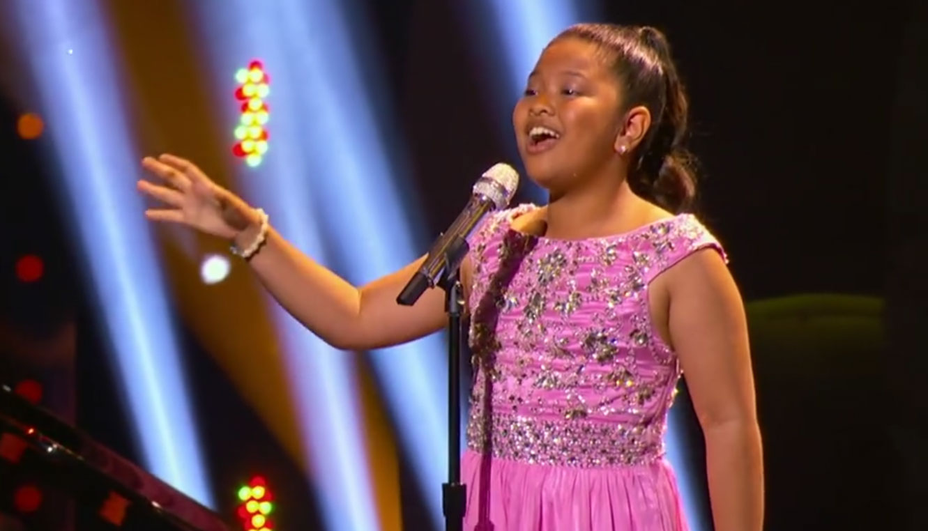 This 12 Year Old Little Big Shots Singer Will Blow You Away With Sia S Chandelier Watch Now Elha Nympha Just Jared