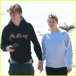 Lucky Blue Smith & Pregnant Girlfriend Stormi Bree Enjoy Romantic Day at the Beach