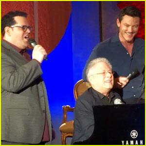 Luke Evans & Josh Gad Sing 'Gaston' From 'Beauty & the Beast' - Watch Now!