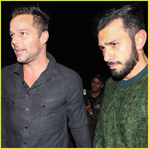 Ricky Martin & Fiance Jwan Yosef Enjoy Dinner in WeHo