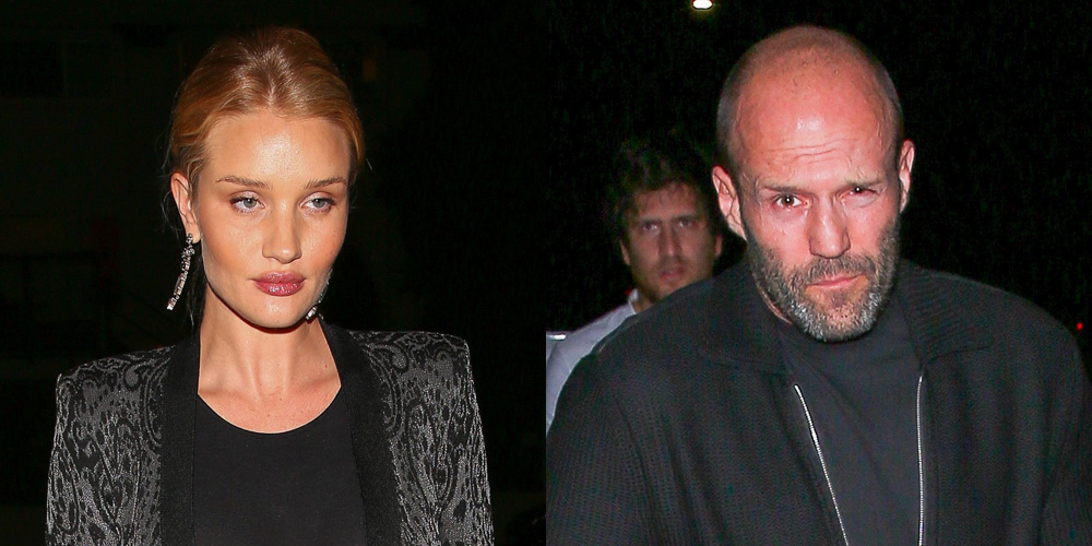 Pregnant Rosie Huntington-Whiteley & Jason Statham Have a Dinner