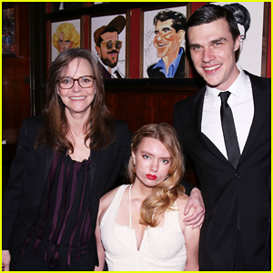 Sally Field Celebrates Opening Night Of 'The Glass Menagerie' with Finn Wittrock!