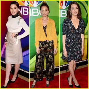 Sophia Bush, Nicole Richie, & Megan Boone Promote Their NBC Shows at NYC Press Day!