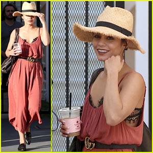 Vanessa Hudgens Tries Out Long Blonde Hair - See the Pic!