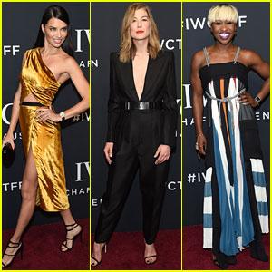Adriana Lima, Rosamund Pike, & Cynthia Erivo Glam Up for IWC's Tribeca Film Fest Gala