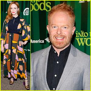Christina Hendricks & Jesse Tyler Ferguson Check out LA's New 'Into the Woods' Production!