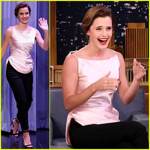 Emma Watson Awkwardly Confused Jimmy Fallon for Jimmy Kimmel - Watch Now!