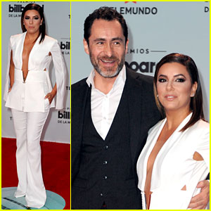 Eva Longoria & 'Lowriders' Co-Star Demian Bichir Take the Stage at Billboard Latin Music Awards 2017