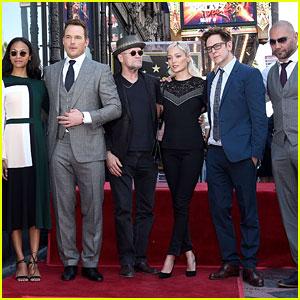 'Guardians 2' Stars Zoe Saldana, Dave Bautista, & More Support Chris Pratt at Walk of Fame Ceremony