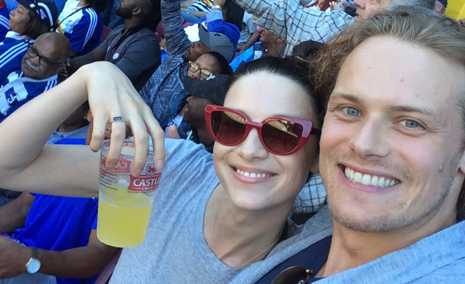 Outlander's Sam Heughan & Caitriona Balfe Go to a Rugby Game