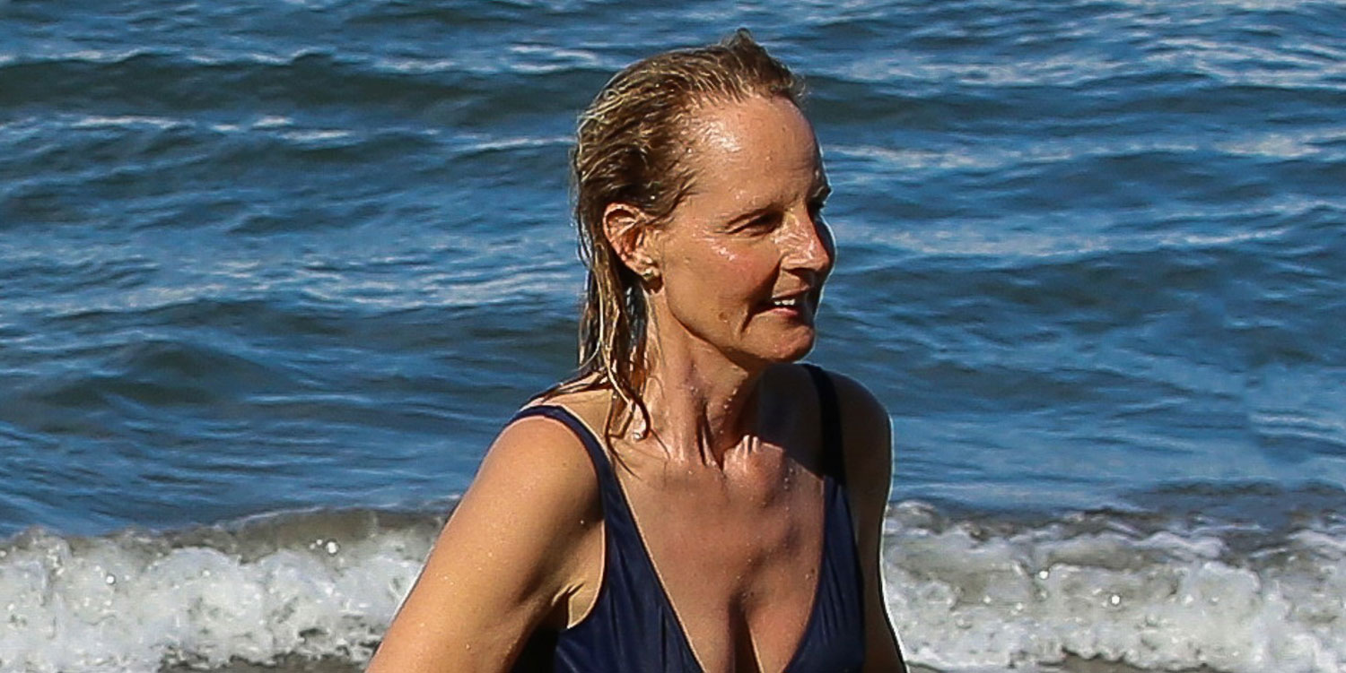 Helen Hunt Goes Surfing In A Bikini During Hawaiian Vacation Bikini Helen Hunt Just Jared