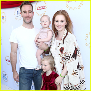James Van Der Beek & Wife Kimberly Bring Their Daughters to Safe Kids Day Event!