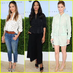 Jessica Alba, Zoe Saldana, & Kate Mara Attend the Victoria Beckham for Target Launch Event