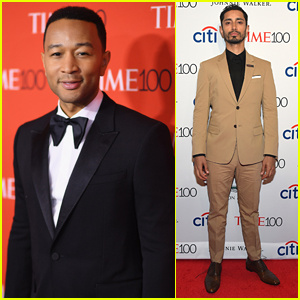 John Legend & Riz Ahmed Suit Up for Time 100 Gala