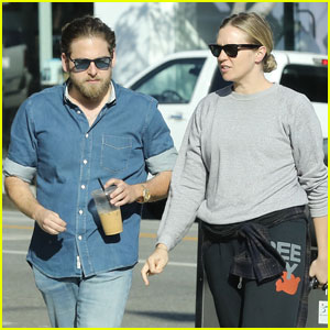 Jonah Hill Is All About Denim While Chatting Up Female Friend