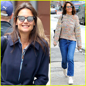 Katie Holmes is all smiles as she enjoys a stroll with a friend on ...  Katie Holmes