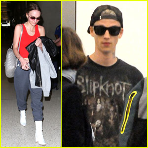 Lily-Rose Depp & Boyfriend Ash Stymest Jet Out of Town for Weekday Getaway