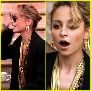 Nicole Richie's Sunglasses Were Accidentally Smacked Off Her Face During an Interview