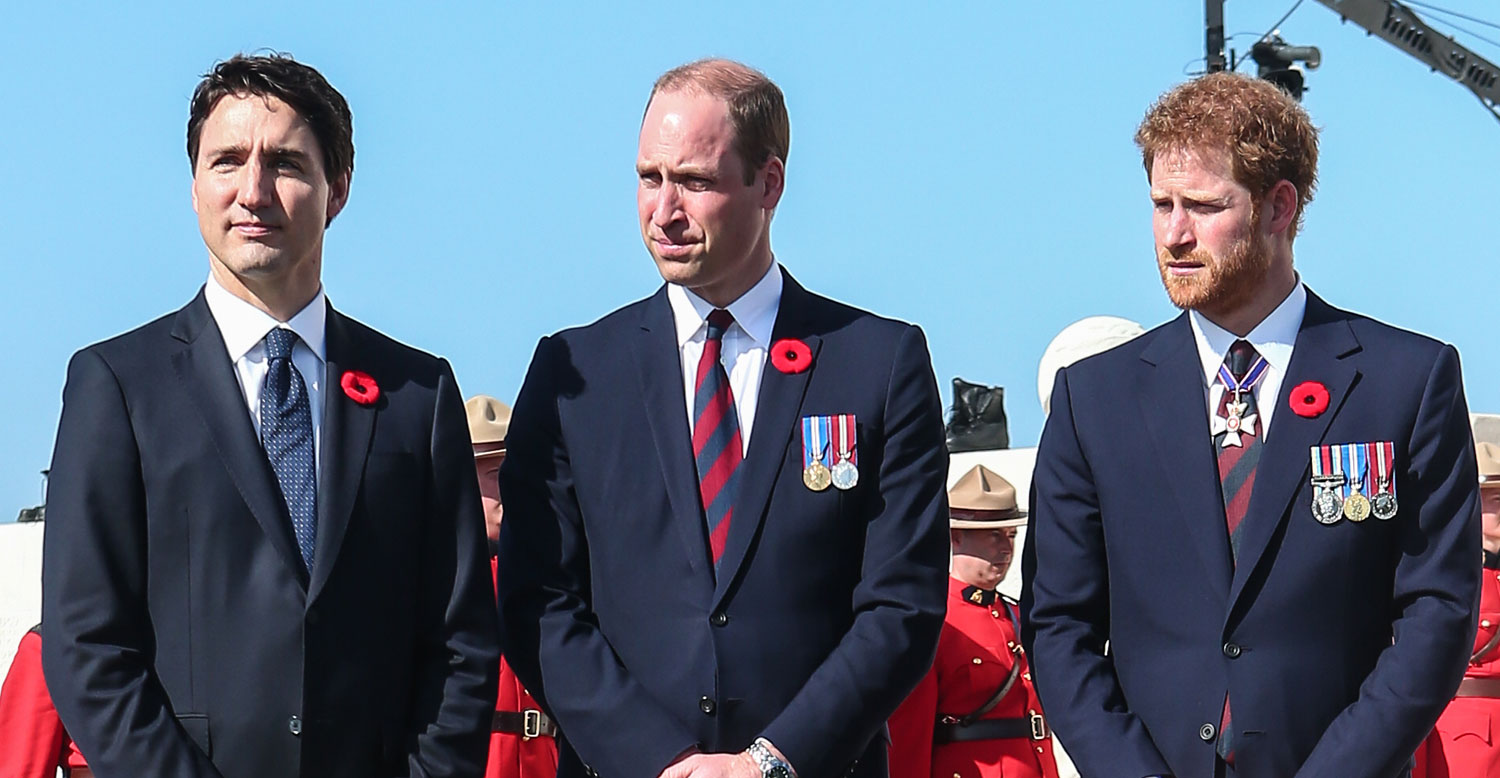 Princes William & Harry Meet Up With Canadian Prime Minister Justin ...