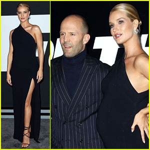 Pregnant Rosie Huntington-Whiteley Supports Jason Statham at 'Fate of the Furious' Premiere