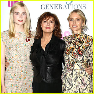 susan sarandon is surrounded by co stars at 3 generations