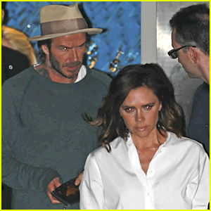 Victoria & David Beckham Take Their Kids to Dinner in Malibu